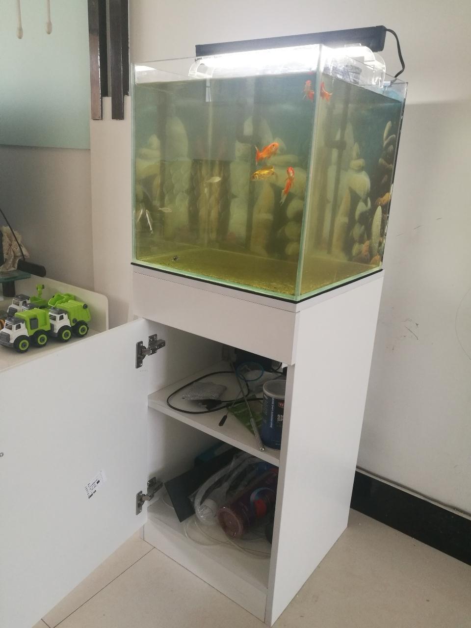 超白鱼缸带低柜带灯等全套材料