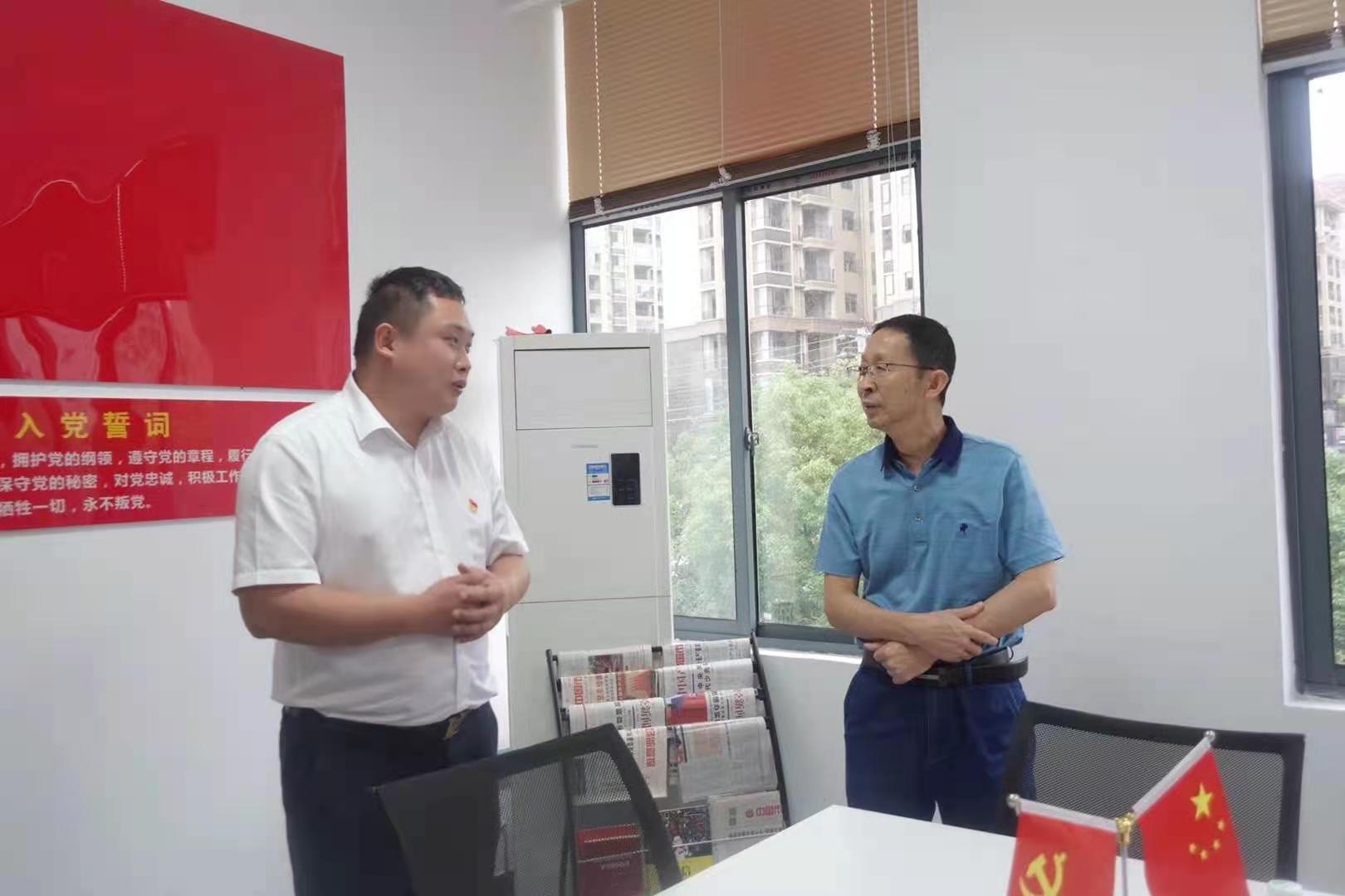 九江市民政局汪局长、县组织部包书记等一行...