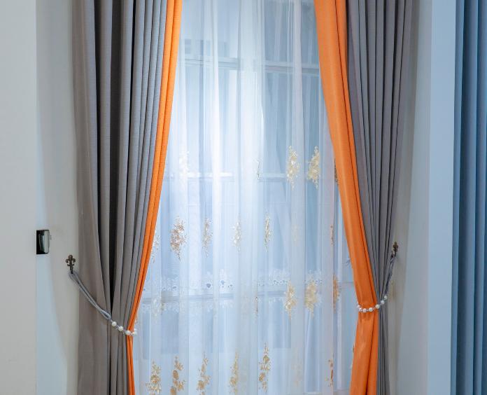 生态钻石棉麻窗帘,95%德遮光度,定型面料,无甲醛